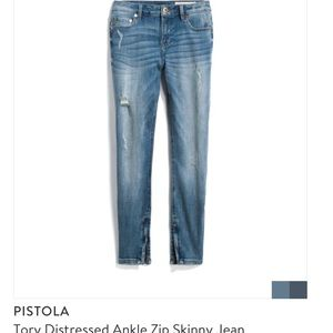 Pistola Tory Distressed Ankle Zip Skinny Jean